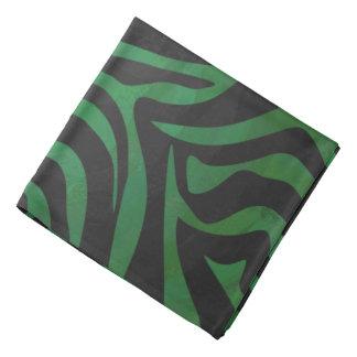 Zebra Black and Green Print Bandana
