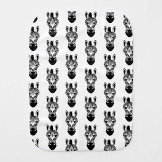 Zebra Black and White Burp Cloth