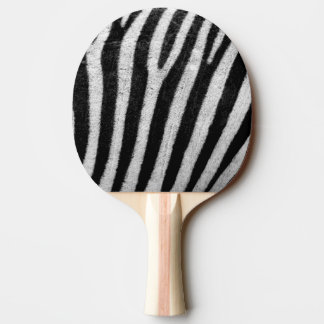 Zebra Black and White Striped Skin Texture Templat Ping Pong Paddle