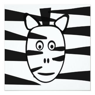 Zebra Children's Birthday Party Invitations