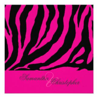 zebra Customizable background color Invitation