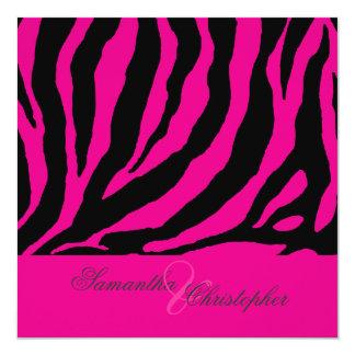 zebra/Customizable background color 13 Cm X 13 Cm Square Invitation Card