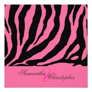 zebra/diy background color 13 cm x 13 cm square invitation card