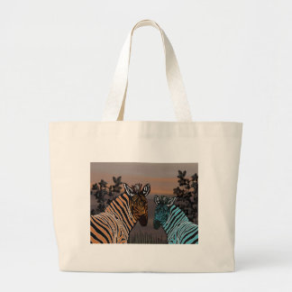 Zebra Habitat Jumbo Tote Bag