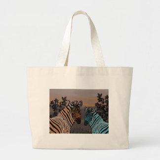 Zebra Habitat Large Tote Bag