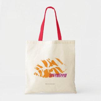 Zebra Orange Tote Bag