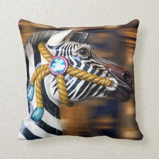 Zebra Painted Pony Pillow Merry-go-round series 20