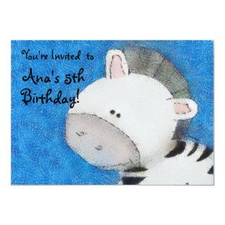 Zebra Party Custom Invitations
