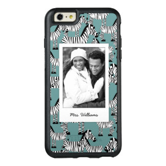 Zebra Pattern | Add Your Photo & Name OtterBox iPhone 6/6s Plus Case
