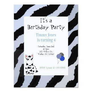 Zebra Pattern Birthday Invitation