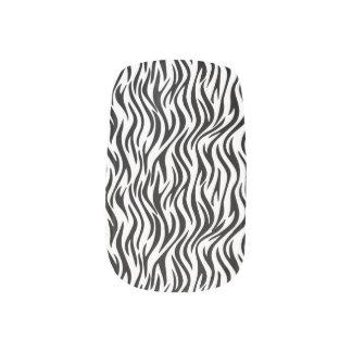 ZEBRA Pattern Black and White V04 Minx Nail Art