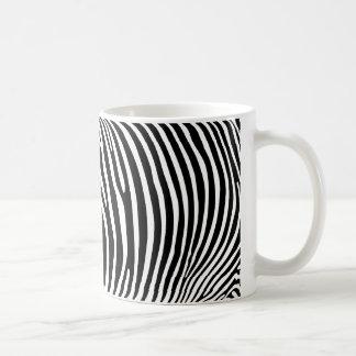 Zebra Print Basic White Mug