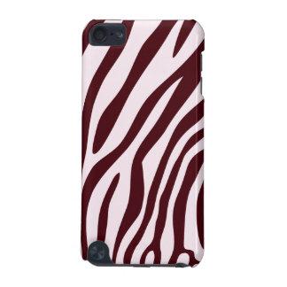 Zebra Print Case, red iPod Touch 5G Case