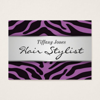 Zebra Print Cosmetology Appointment Card (Lavendr)