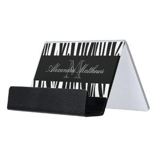 Zebra Print Desk Business Card Holder