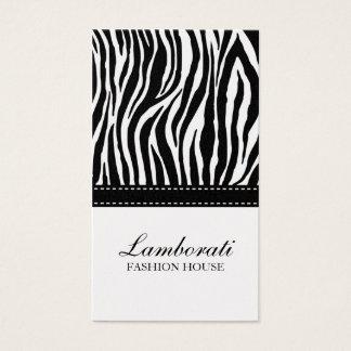 Zebra Print Fashion Designer Elegant Modern Gold Business Card
