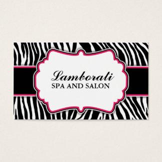 Zebra Print Fashion Hot Pink Elegant Modern Classy Business Card