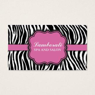 Zebra Print Hair Stylist Hairdresser Salon Pink