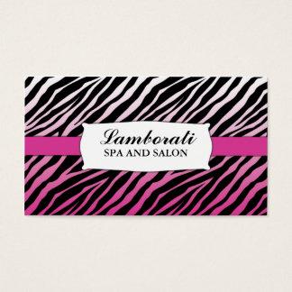 Zebra Print Hair Stylist Hairdresser Salon Pink Business Card