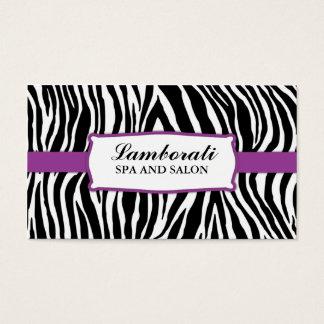 Zebra Print Hair Stylist Hairdresser Salon Purple