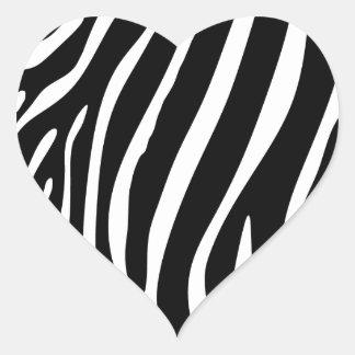 Zebra Print Heart Sticker