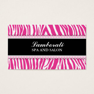 Zebra Print Lace Fashion Stylist Hairdresser Salon Business Card