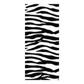 Zebra Print Pattern Rack Card