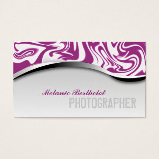 Zebra Print Photographer Business Card Pink