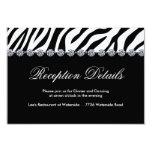 "Zebra Print Reception Cards 3.5"" X 5"" Invitation Card"
