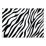 Zebra Print Reply Cards 9 Cm X 13 Cm Invitation Card