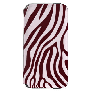 Zebra Print Wallet, red Incipio Watson™ iPhone 6 Wallet Case