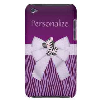 Zebra, Purple Animal Stripes & Printed Bow Case-Mate iPod Touch Case