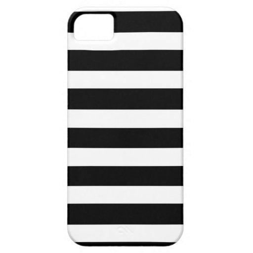 ZEBRA STRIPED! ( a black & white striped design) iPhone 5 Cover