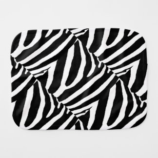 ZEBRA STRIPES (a Black & White design) Burp Cloths
