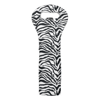 Zebra Stripes Animal Print Pattern Wine Tote Bag