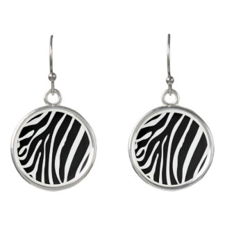 Zebra Stripes Drop Earrings