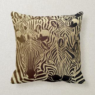 Zebra stripes in gold cushion