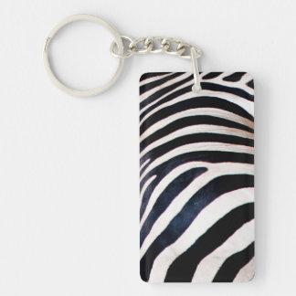 Zebra stripes key ring