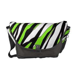 Zebra Stripes Lime Green Courier Bag