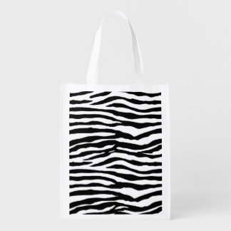 Zebra Stripes Reusable Grocery Bag