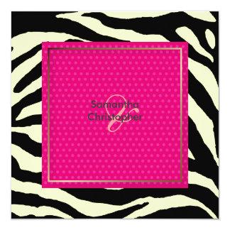 Zebra stripes/Wedding Invitations