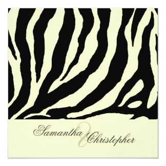 Zebra stripes, Wedding Invitations