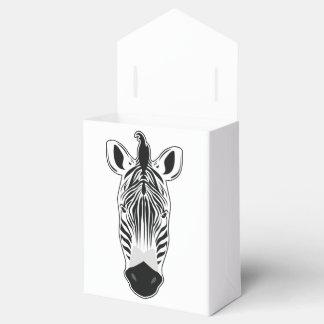 Zebra tuft party favour boxes