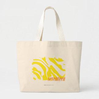Zebra Yellow 2 Large Tote Bag