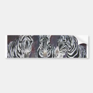 zebra zoo animal wildlife painting art gifts bumper sticker