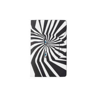 Zebraman notebook in black and white blue eyes