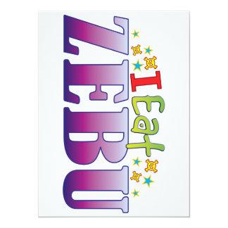 Zebu I Eat 14 Cm X 19 Cm Invitation Card