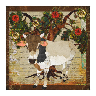 Zeeboo Rose Tree Canvas Gallery Wrap Canvas