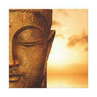 Zen Buddha in the sunset Canvas Print