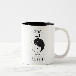 Zen Bunny3 Two-Tone Coffee Mug